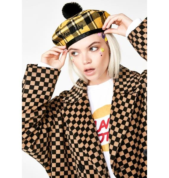Lazy Oaf Food Baby Check Beret