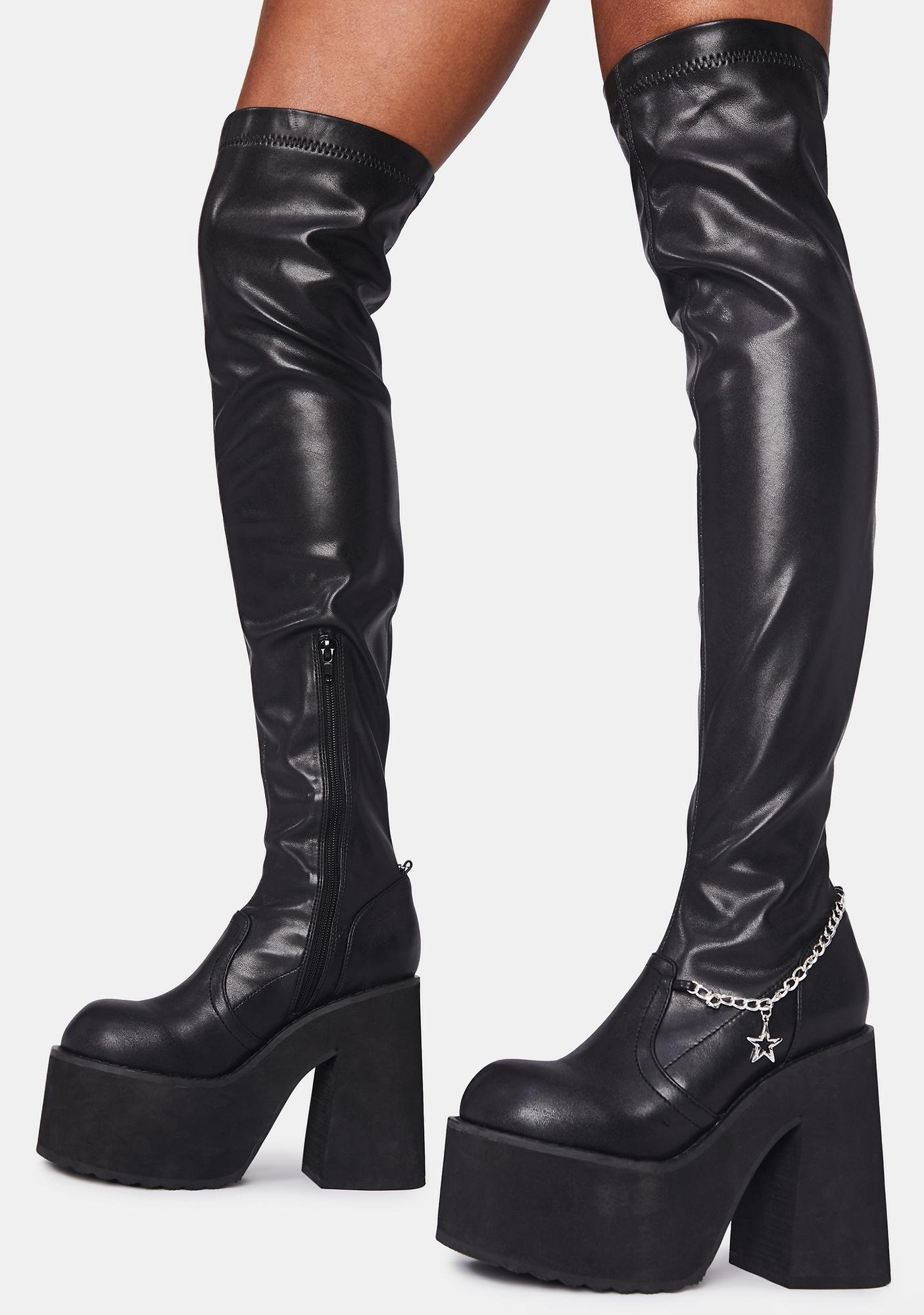 Dolls Kill x Bratz Miss Socialite Thigh High Boots