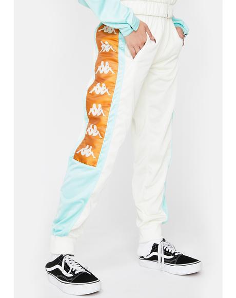 White 222 Banda 10 Arsis Track Pants