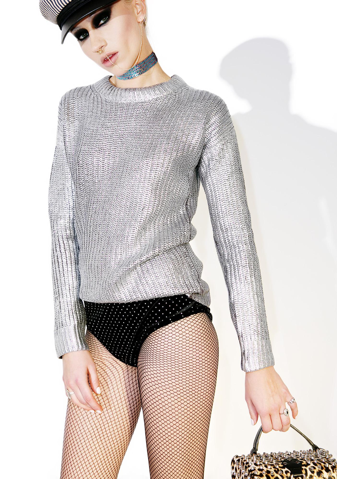 Glamorous Nysa Metallic Sweater