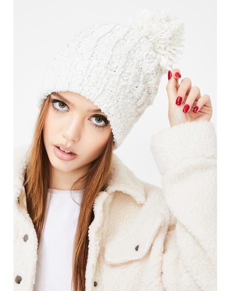 Chill Barely Makin' It Pom Pom Beanie