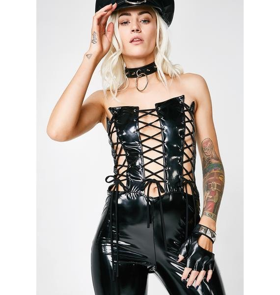 Causin' Trouble Lace-Up Jumpsuit