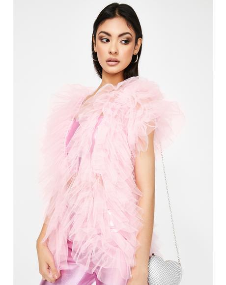 Pink Make A Scene Tulle Vest