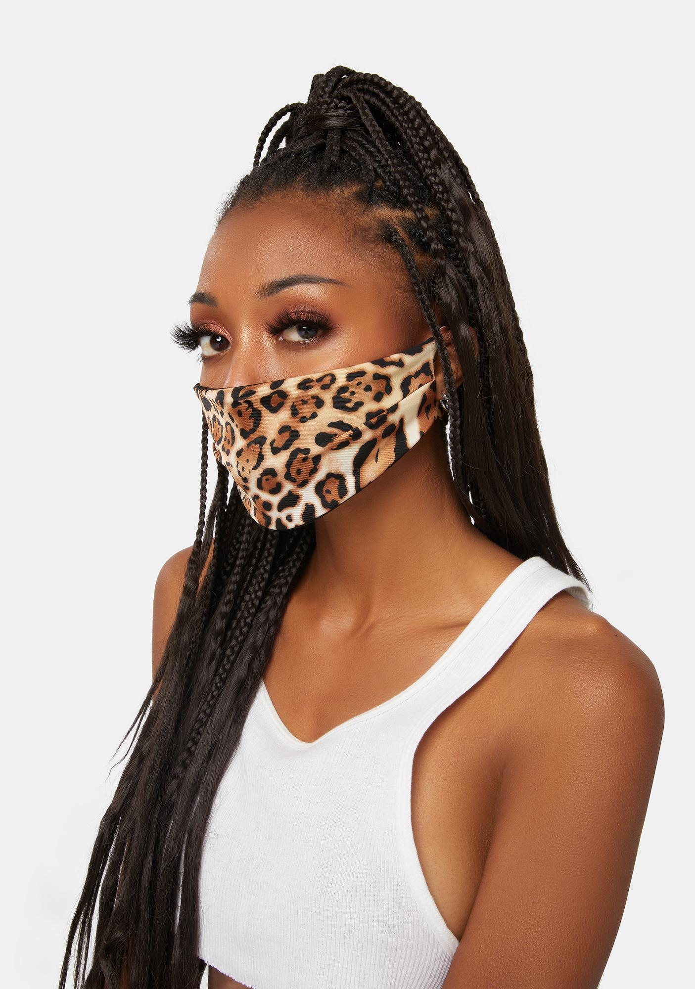 Soulan Zee Queen Leopard Face Mask