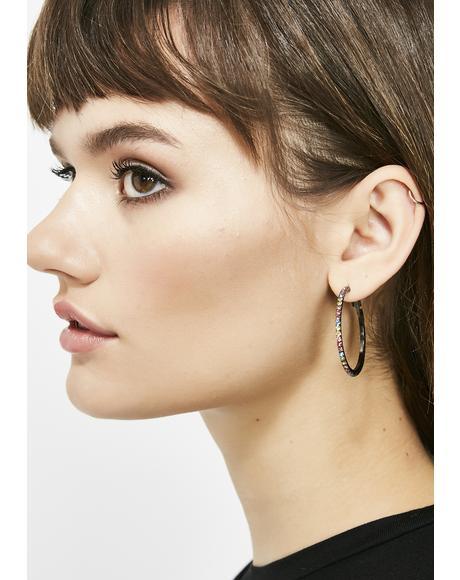 Luna Posh Princess Hoop Earrings