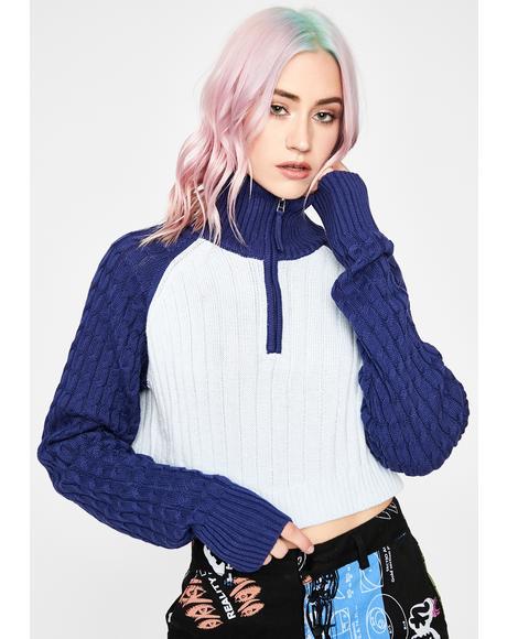Exclusive Zone Crop Sweater