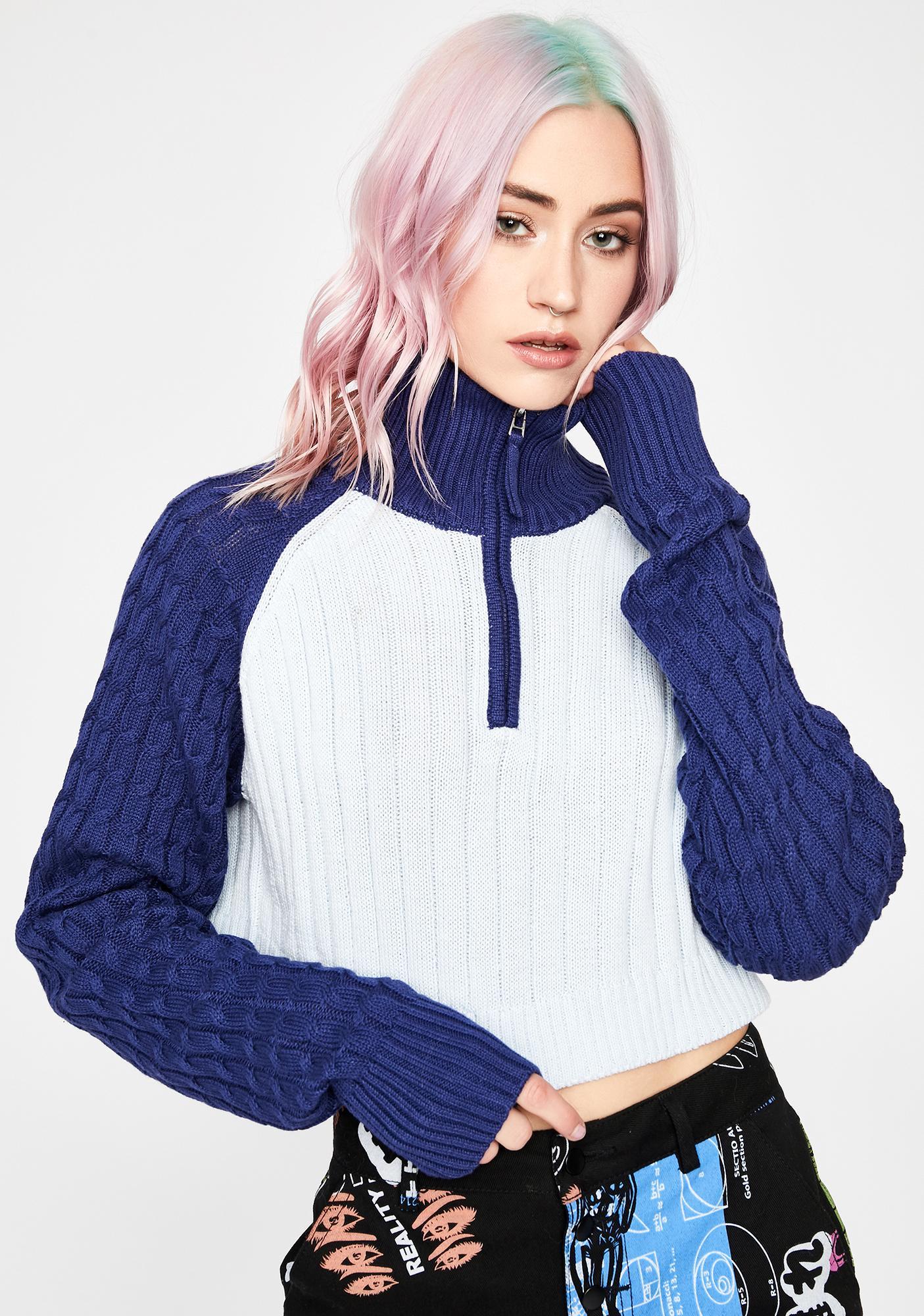 Current Mood Exclusive Zone Crop Sweater