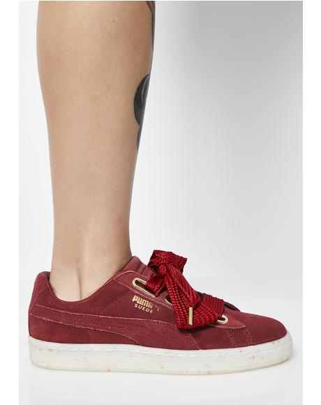 Suede Heart Fab Sneakers