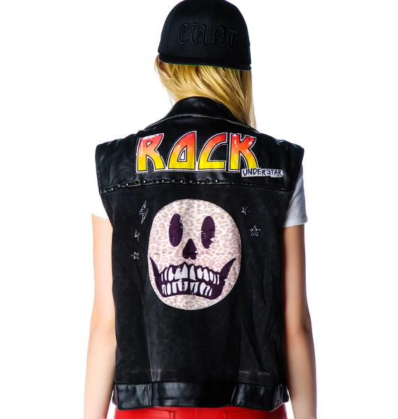 Skull Rocker Leather Vest