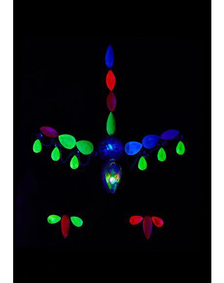 Light Up Neon UV Face Gems