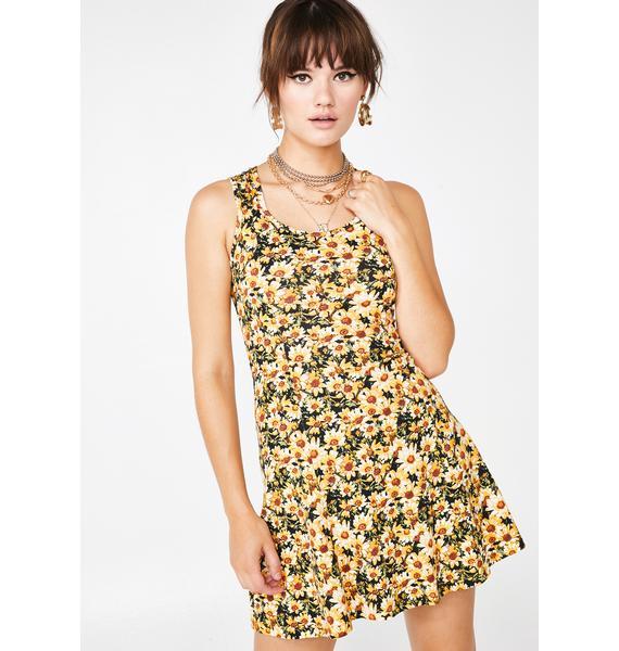 Sunny Like A Flower Mini Dress
