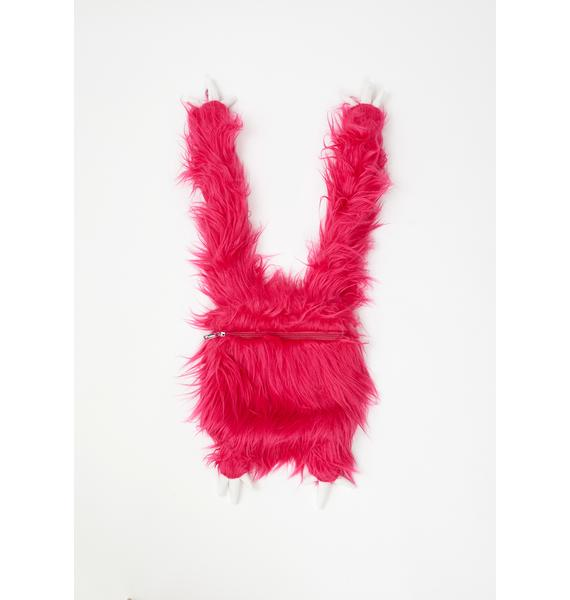 Club Exx She Creature Fuzzy Backpack