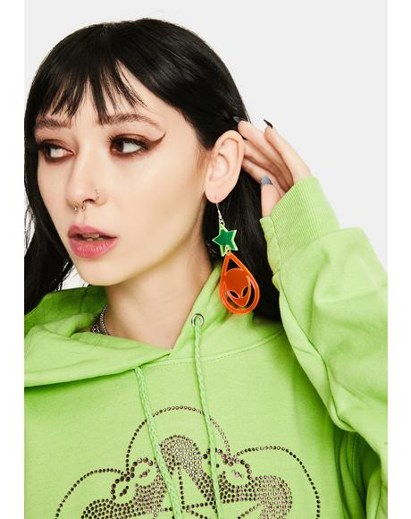Alien Star Earrings