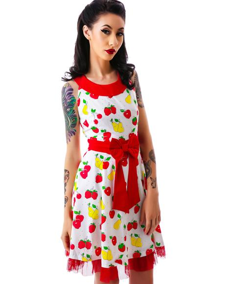 Vintage Fruit Dance Dress