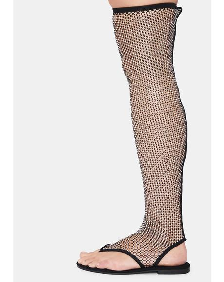 Time To Remember Fishnet Sandals