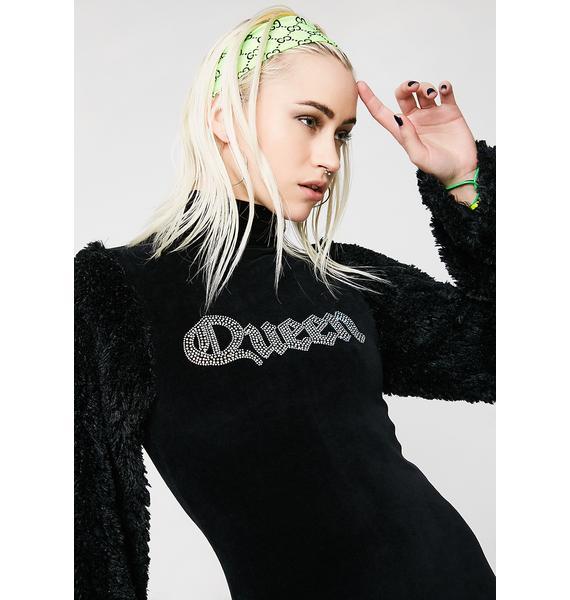 Jaded London Diamonte Queen Jumper