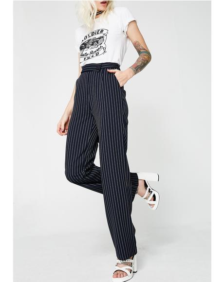 Money Movez Striped Trousers