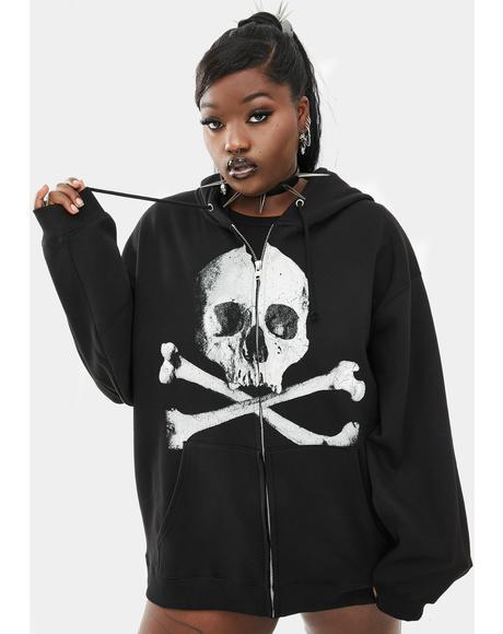 Her Deadly Doom Zip-Up Hoodie