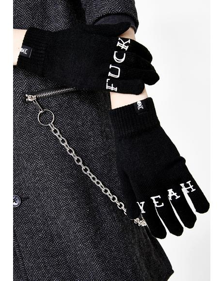 Fuck Yeah Knit Gloves