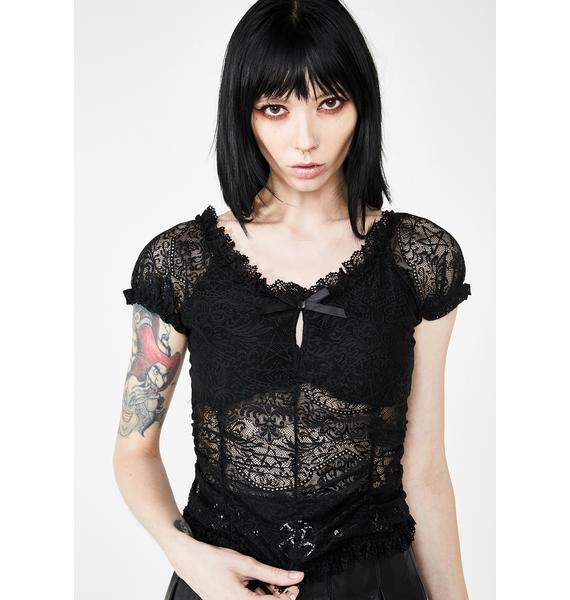 Killstar Holly Lace Top