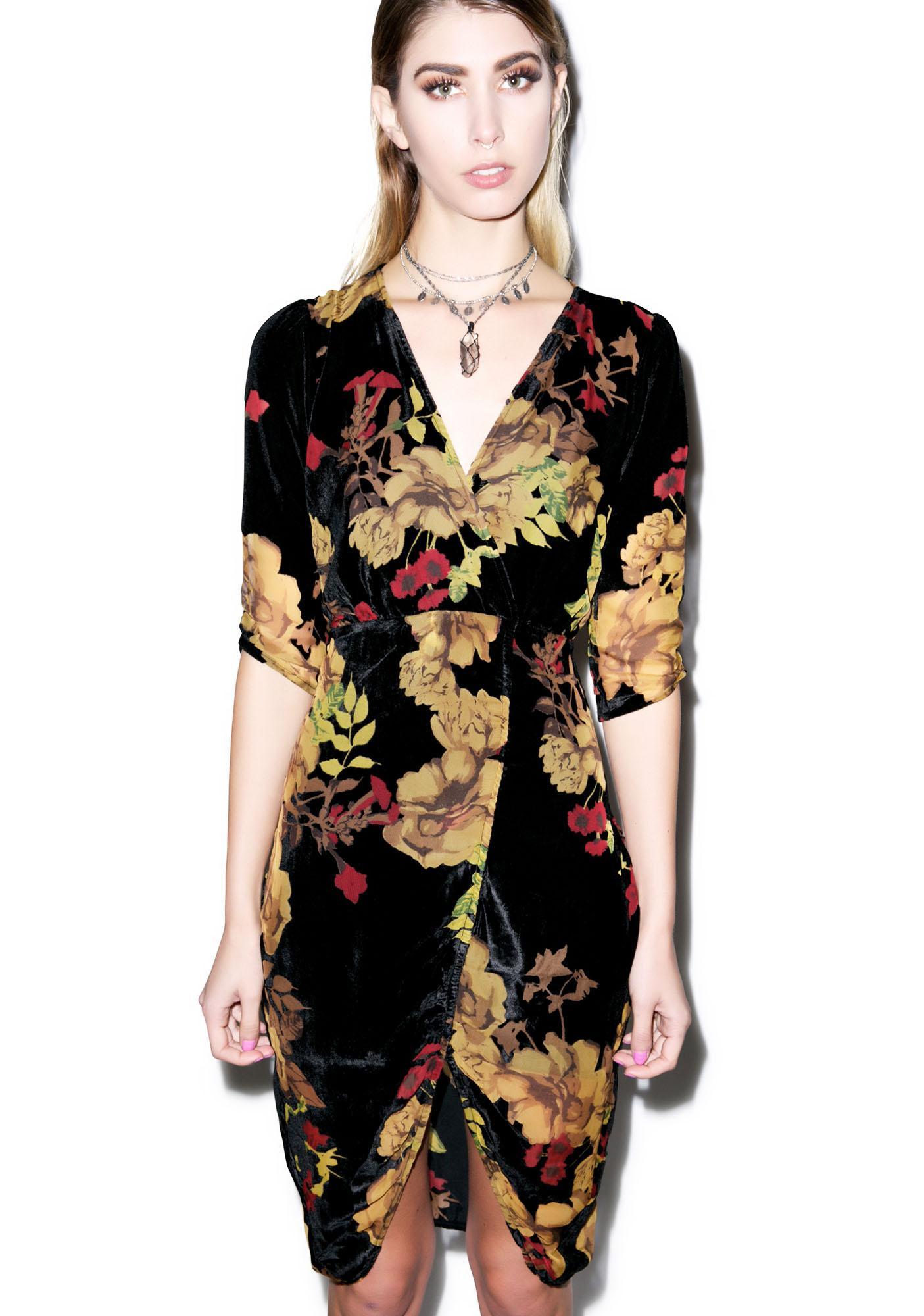For Love & Lemons Dusty Rose Mini Dress