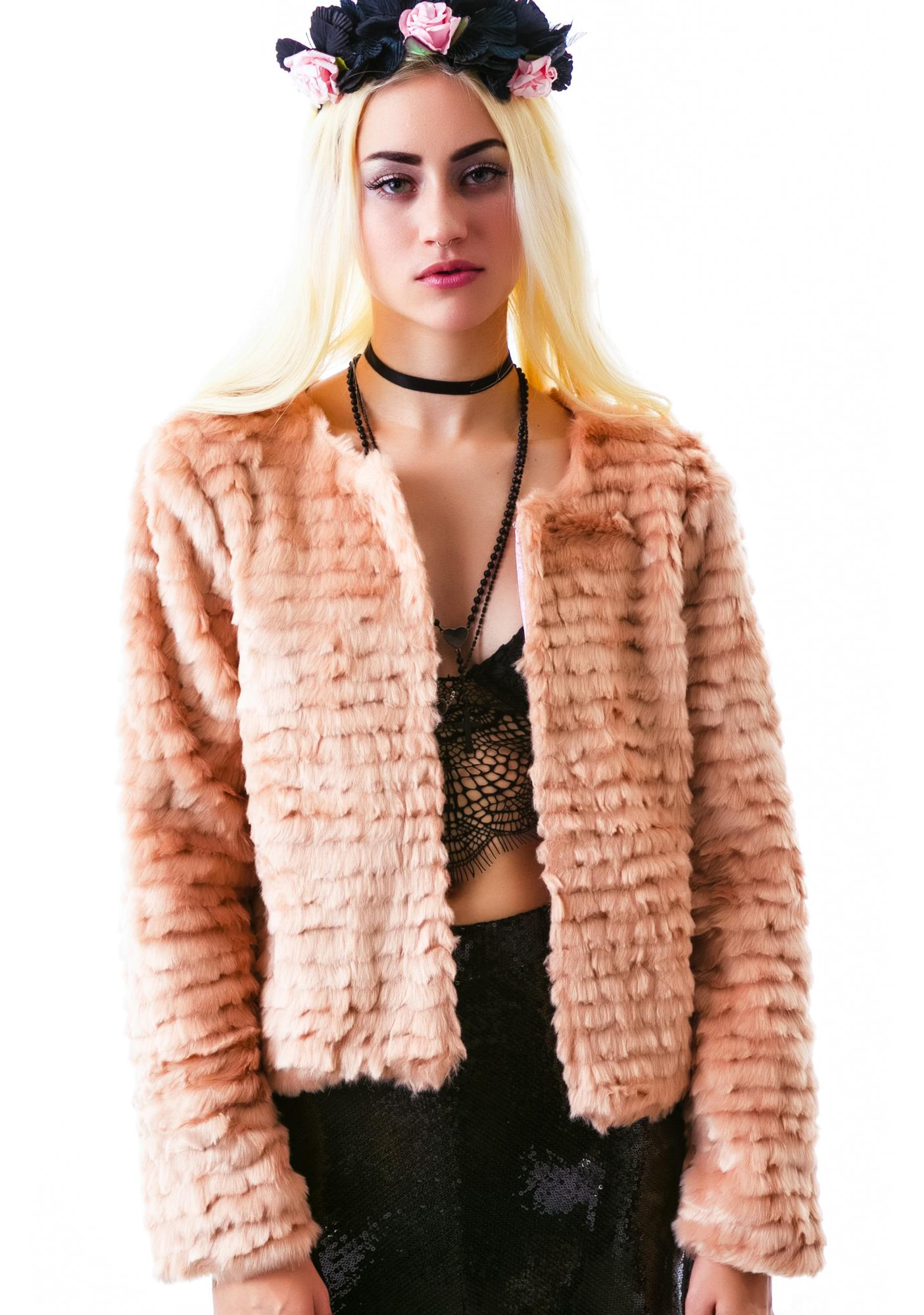 For Love & Lemons Faux Fur Jacket