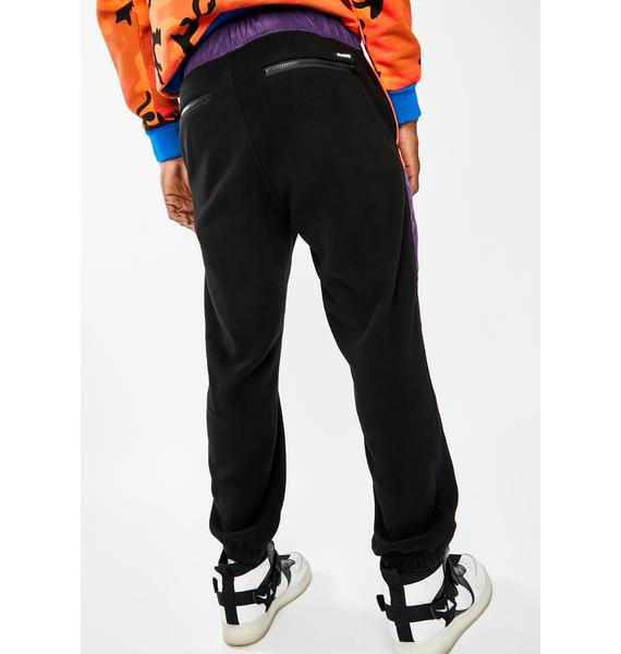 XLARGE Black Multi Paneled Easy Pants