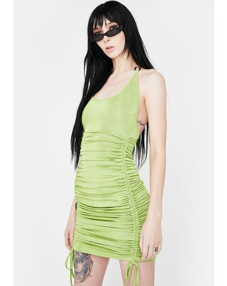 Green Halley Mini Dress