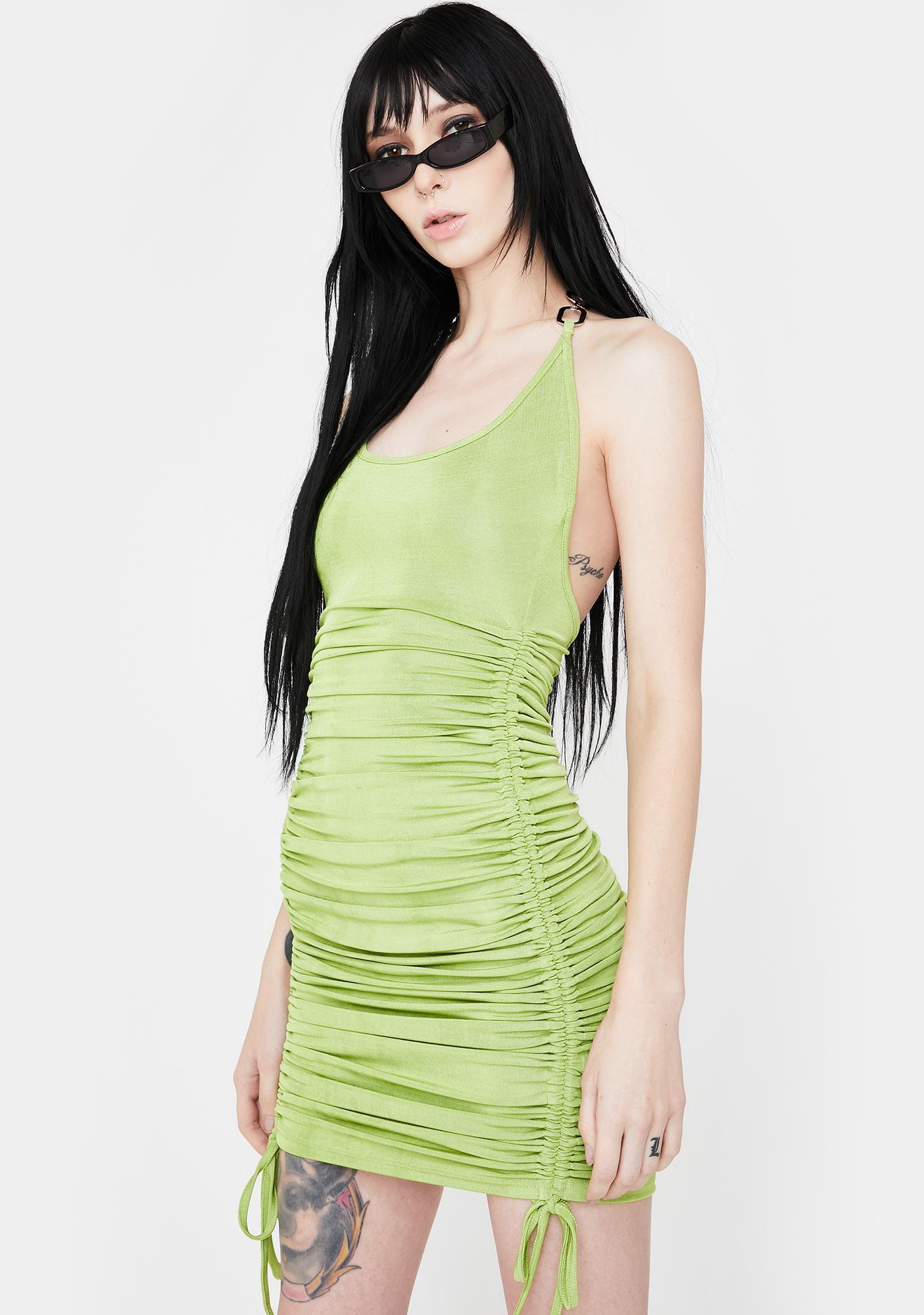 I AM GIA Green Halley Mini Dress