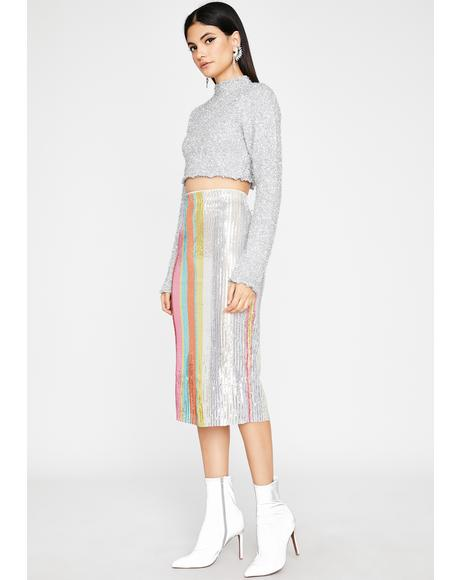 Bright N' Shining Sequin Skirt