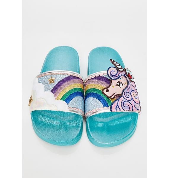 Irregular Choice Lazy Daisy Slides