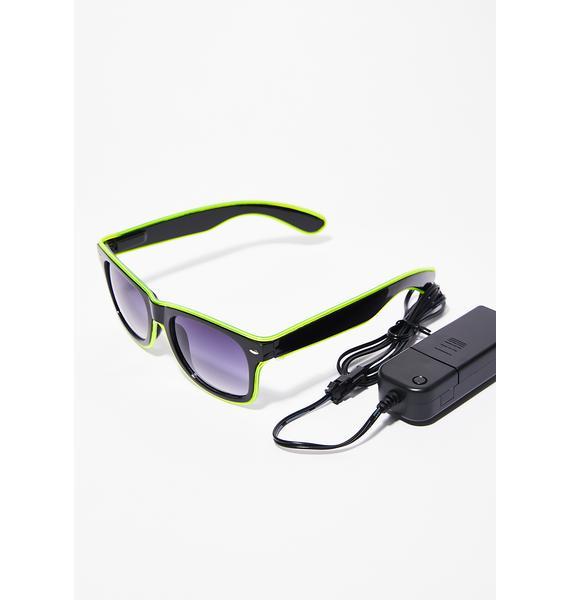 Lime Always Lit Light-Up Sunglasses