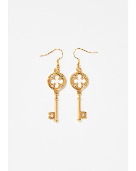 Hot Key Earrings
