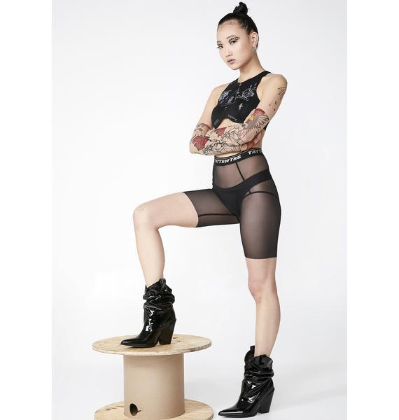 TATTOOSWEATERS Mesh Short Leggings