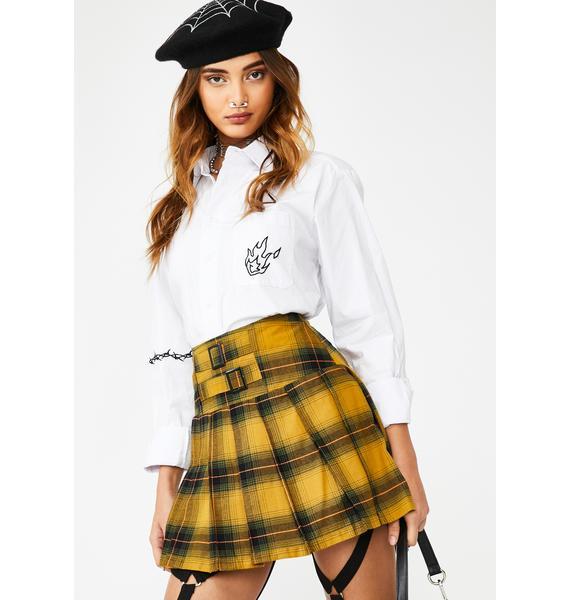 Jawbreaker Pleated Tartan Mini Skirt