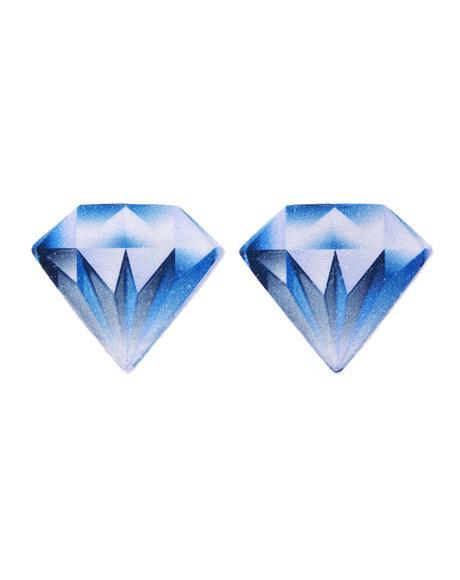 Blue Diamond Velvet Pasties
