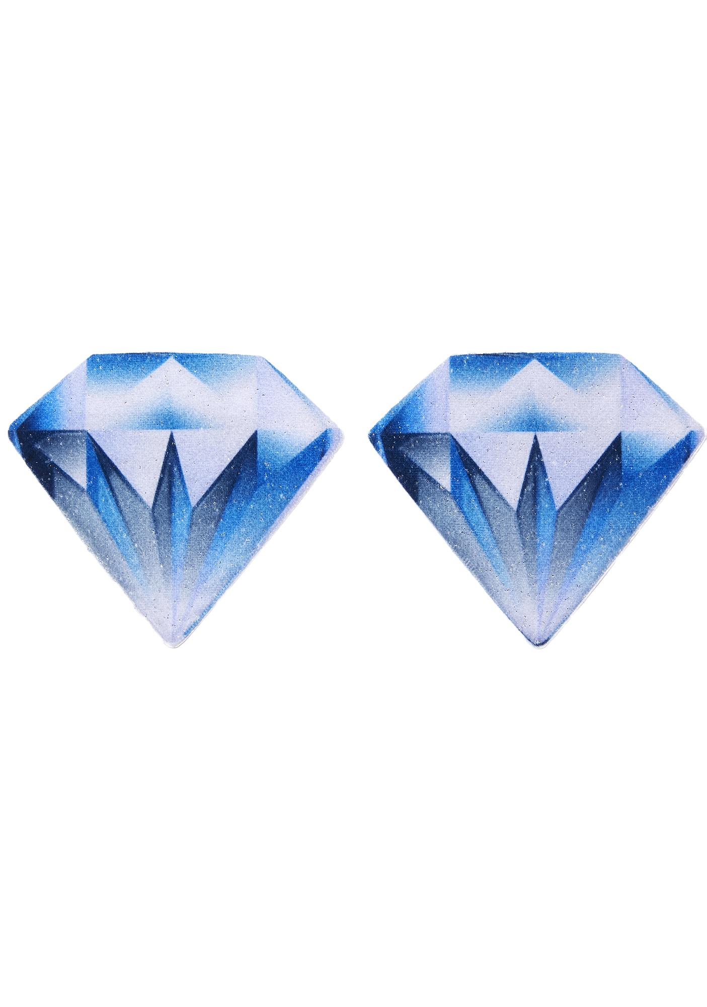 Pastease Blue Diamond Velvet Pasties