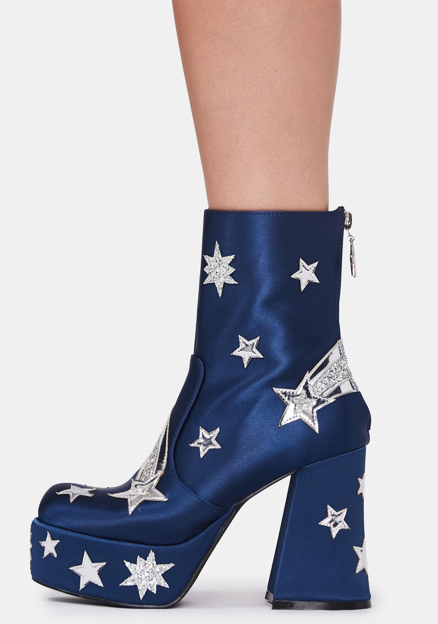 HOROSCOPEZ Made From Stardust Platform Boots
