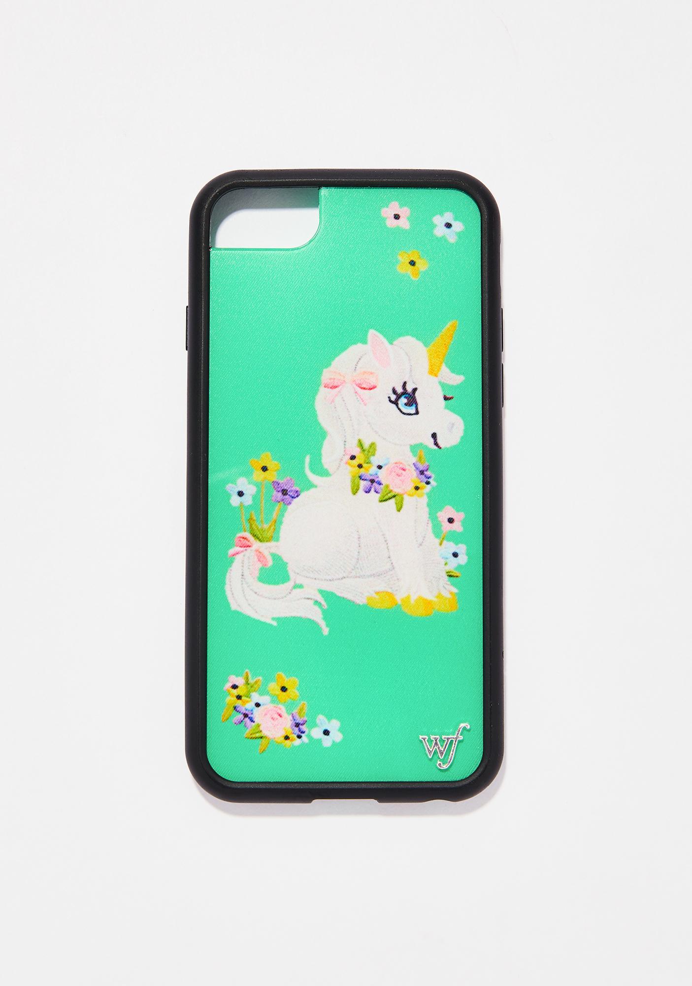 Wildflower Baby Unicorn iPhone Case