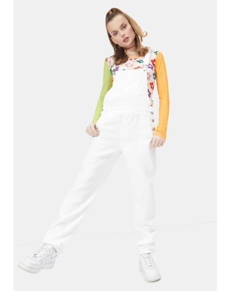 Angel Cutest Covergirl Straight Leg Overalls
