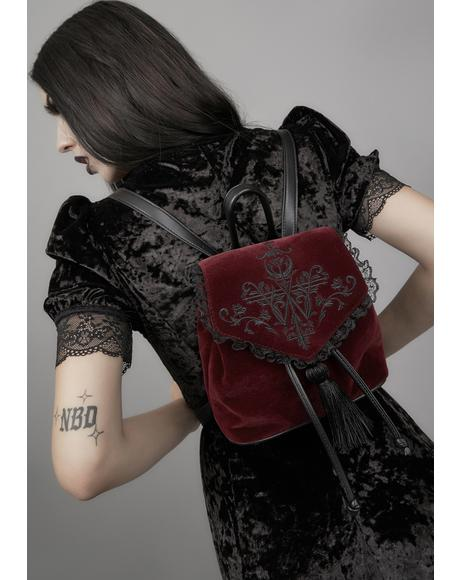 Killer In Me Velvet Backpack
