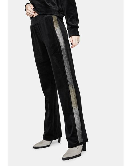Black Luxe Velour Sweats