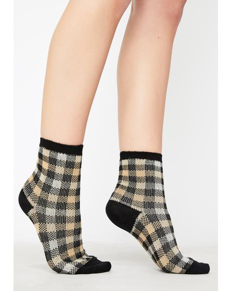Teenage Tycoon Plaid Socks