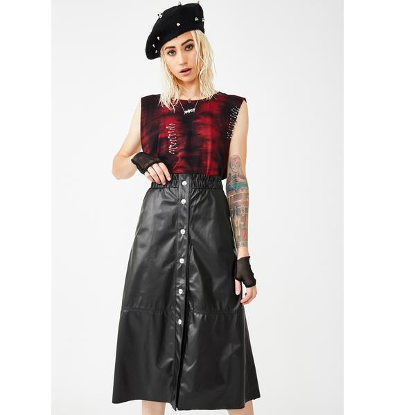 Blank NYC Onyx Midi Skirt