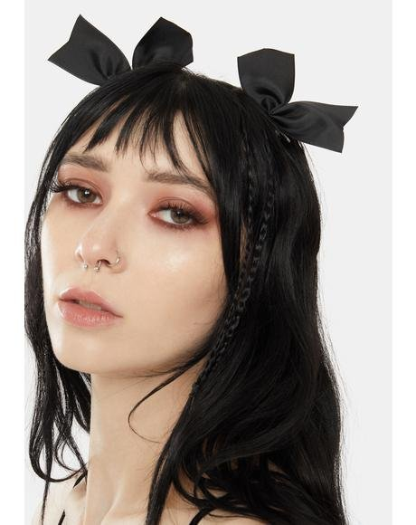 Night Forever Cute Half Bow Hair Clips