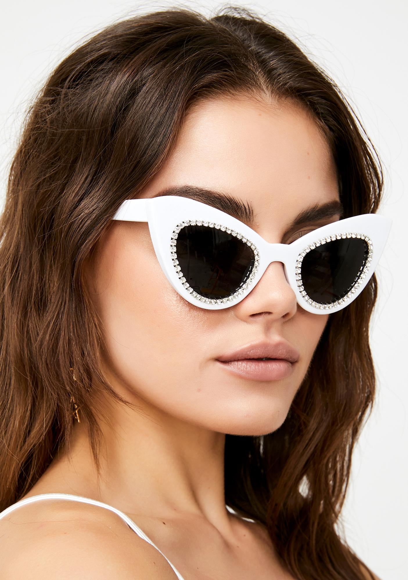 Blindin' Glam Rhinestone Sunglasses