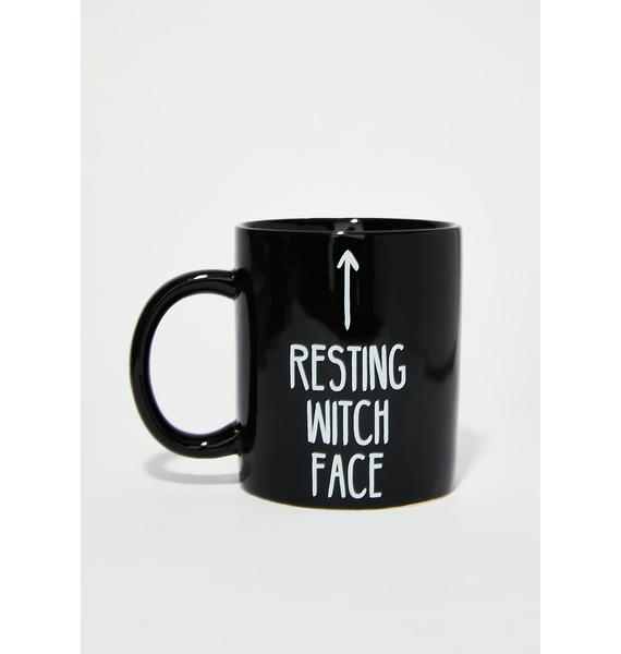 Killstar Resting Witch Face Mug