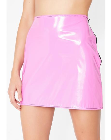 PVC Mini Skirt