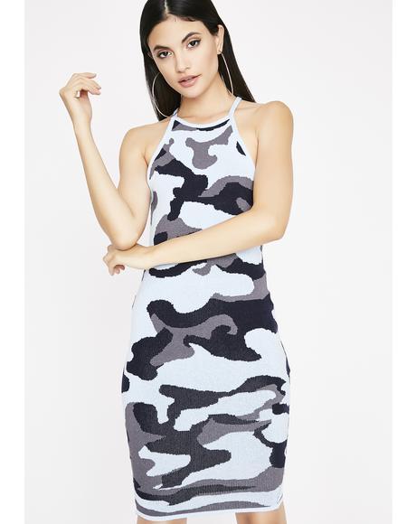 Can't Track Ya Camo Dress