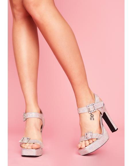 Precious Heiress Rhinestone Heels